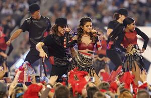 Selena Gomez performing at Thanksgiving NFL show
