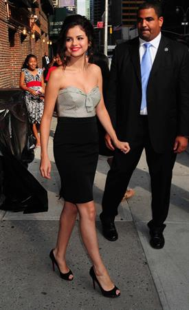 Selena Gomez at the Late Show with David Letterman on July 20, 2010