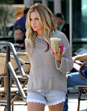 Ashley Tisdale Starbuks in Los Angeles on July 23, 2012