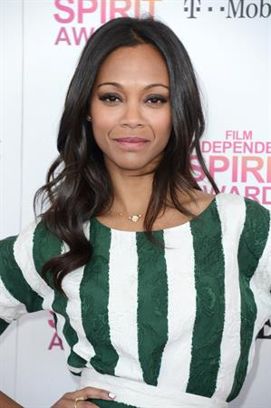 Zoe Saldana 2013 Film Independent Spirit Awards in Santa Monica - Feb. 23 2013