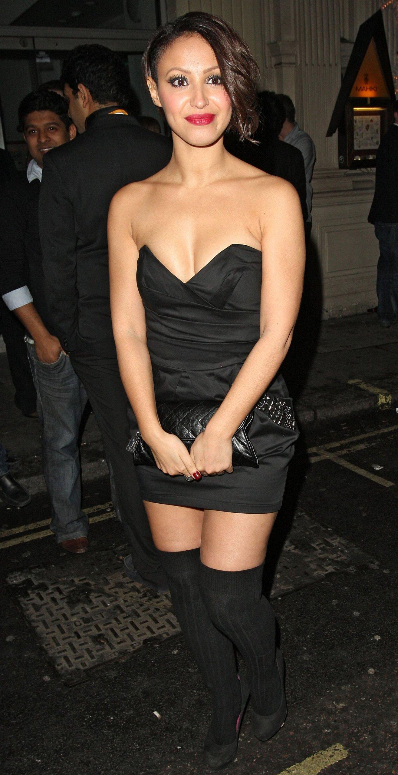 Amelle Berrabah Mahiki X-mas party on December 16, 2010