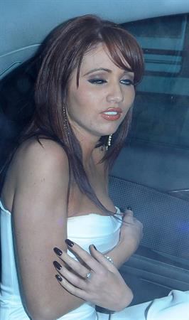 Amy Childs party candids London November 20, 2010