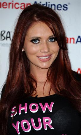 Amy Childs Pink Zumbathon party on October 16, 2011