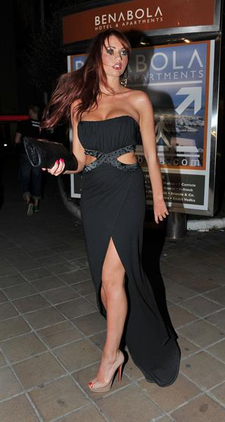 Amy Childs and Sam Faiers night out in Marbella on May 27, 2011