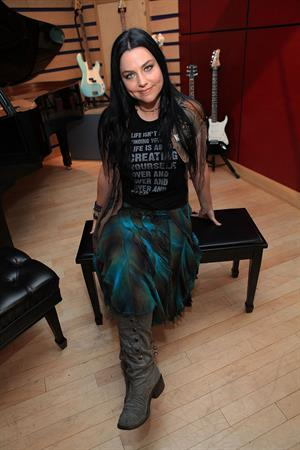 Amy Lee of Evanescence visits Fuses Top 20 countdown at KMA Studios in New York on July 25, 1012