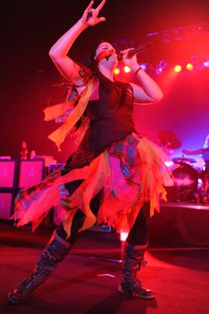 Amy Lee performing live at the Hard Rock Cafe in Hollywood Florida on January 17, 2012