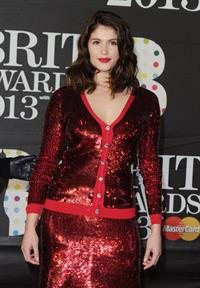 Gemma Arterton Brit Awards 2013 at 02 Arena in London 2/20/13