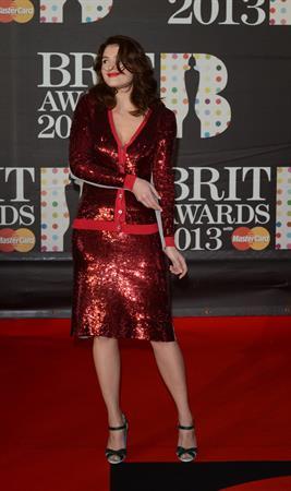 Gemma Arterton Brit Awards 2013 at 02 Arena in London 2/20/13