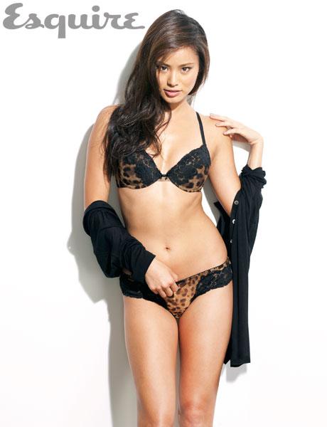 Jaime Chung in lingerie