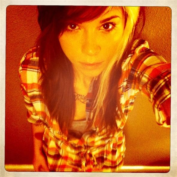 Christina Perri taking a selfie