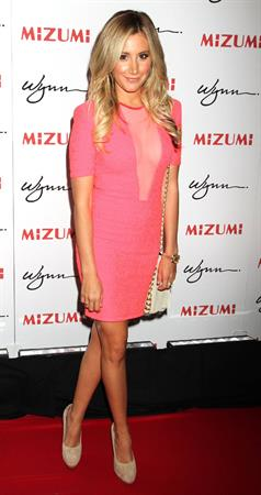 Ashley Tisdale - Unmasking Mizumi Restaurant in Las Vegas June 7, 2012