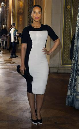 Alicia Keys attends the Stella McCartney Fashion House Presentation in Paris on March 5, 2012