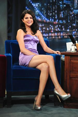 Selena Gomez on the Late Night with Jimmy Fallon Show in New York City on July 21, 2010