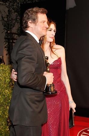 Anne Hathaway Vanity Fair Oscar Party on February 27, 2011