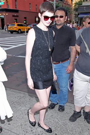 Anne Hathaway Shut Up and Play the Hits premiere in New York July 10, 2012