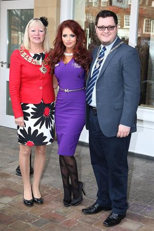 Amy Childs launching her Salon at Unit 1 Wilsons Corner in Brentwood on November 24, 2011