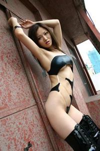 Yuki Touma in a bikini