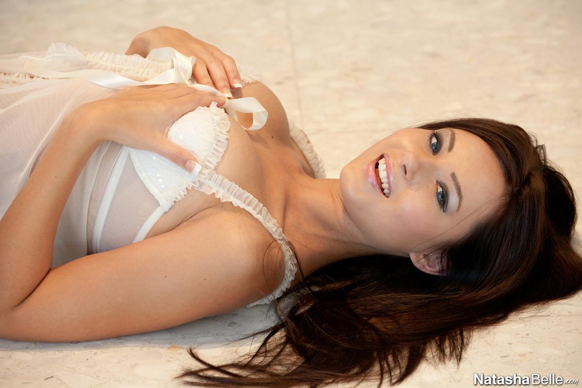 Natasha Belle in white nighty