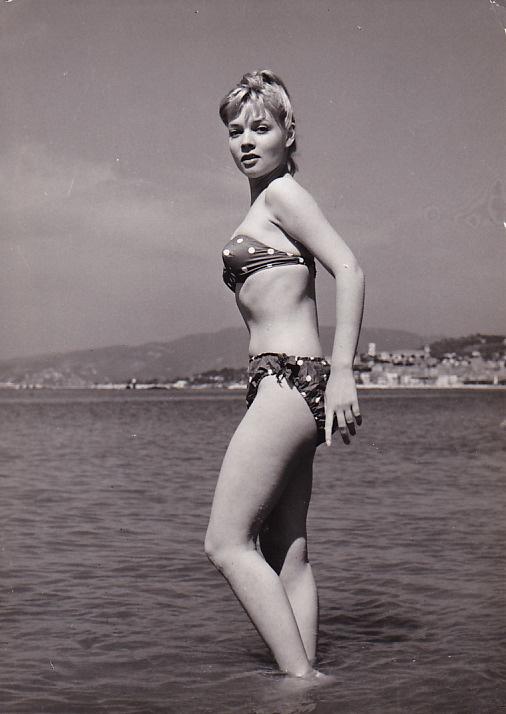 Agnès Laurent in a bikini