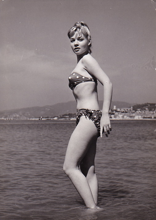 Agnès Laurent in a bikini