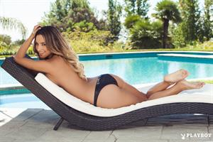 Poolside with Playboy Cybergirl Yesenia Bustillo