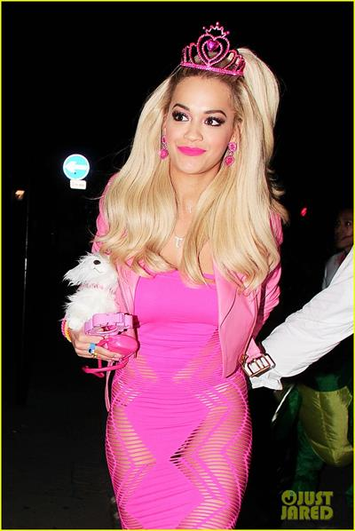 Rita Ora as Barbie for Halloween