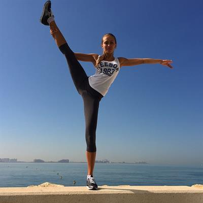 Galinka Mirgaeva in Yoga Pants