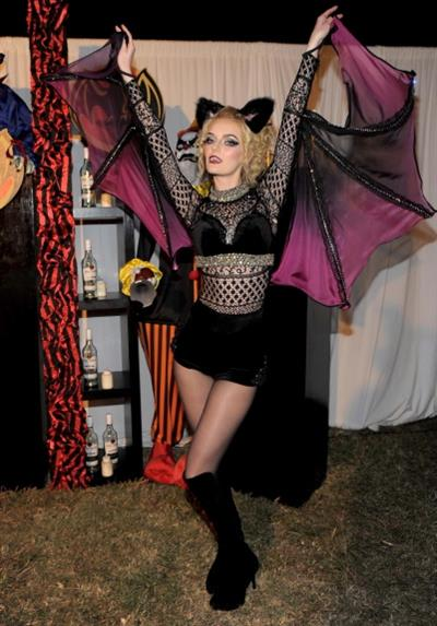 Lydia Hearst as a vampire for Halloween