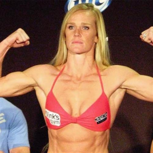 Holly Holm in a bikini
