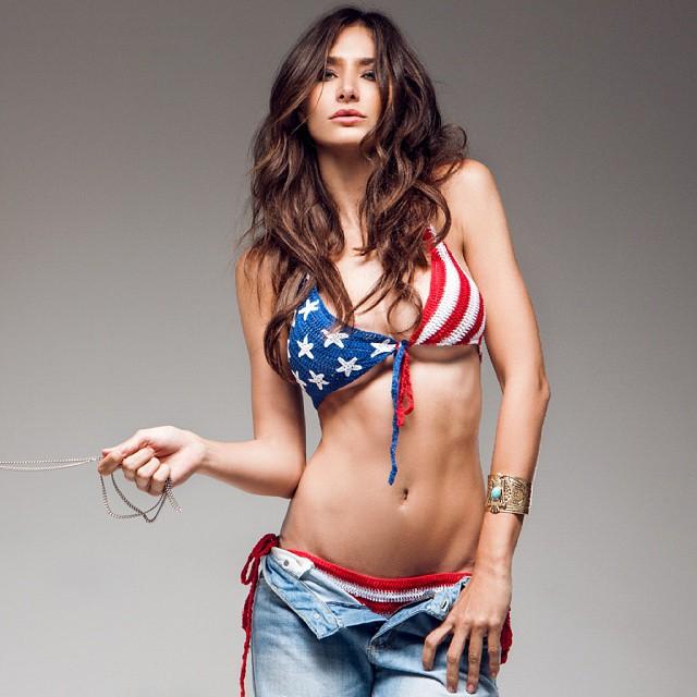 Raquel Santolaya in a bikini