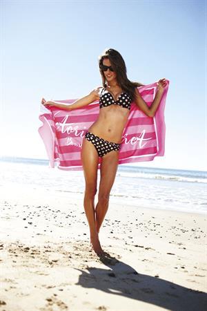 Alessandra Ambrosio Victoria's Secret bikini photoshoot on the beach July 26, 2011