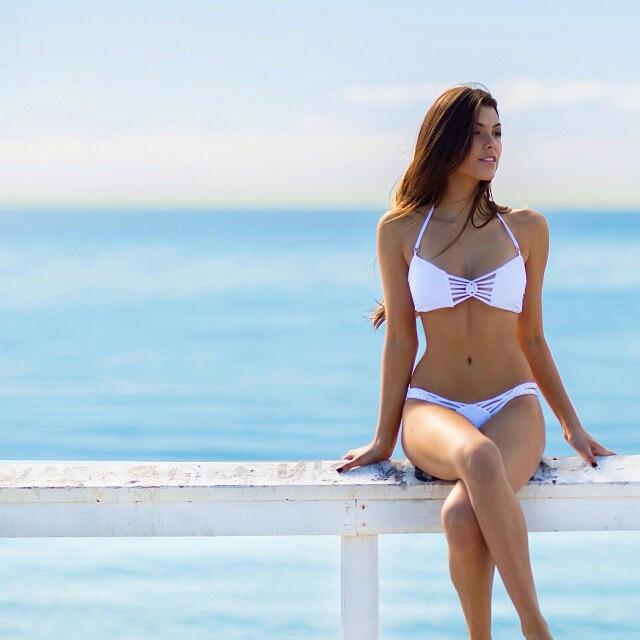 Julia Friedman in a bikini