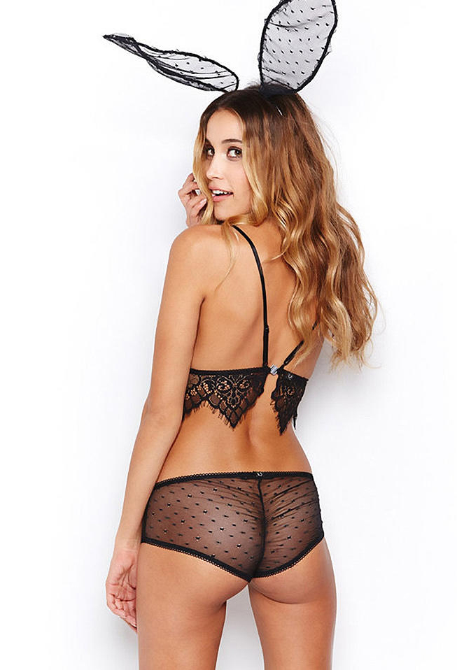 Jessica Serfaty in lingerie - ass
