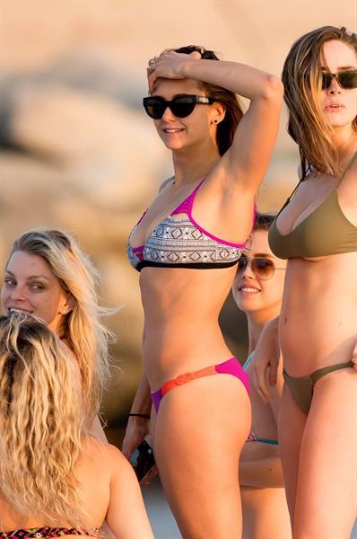 Nina Dobrev in a bikini