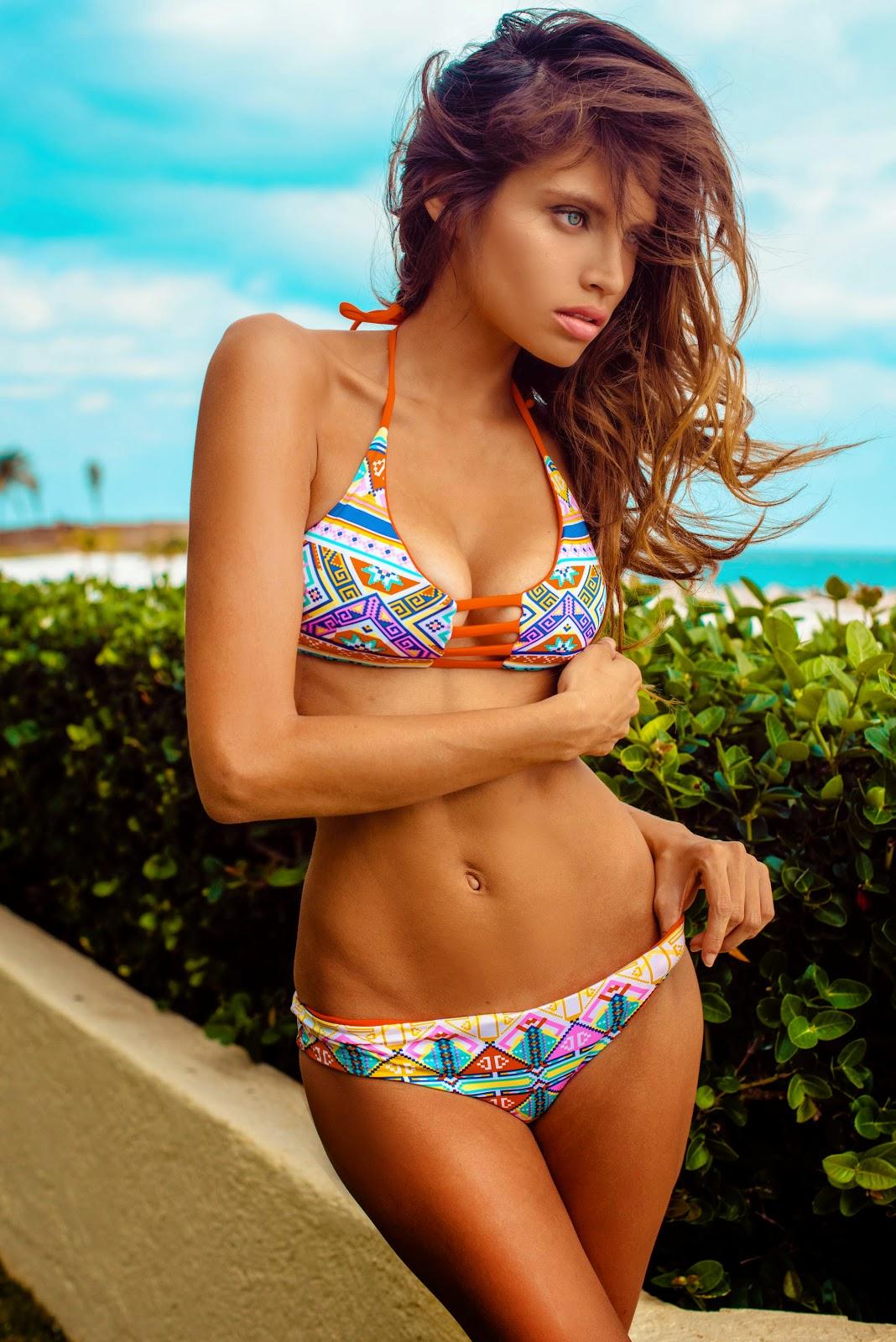 Gabriela Cruz in a bikini