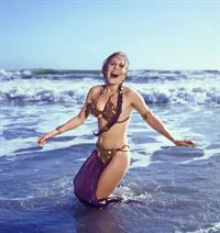 Carrie Fisher in a bikini