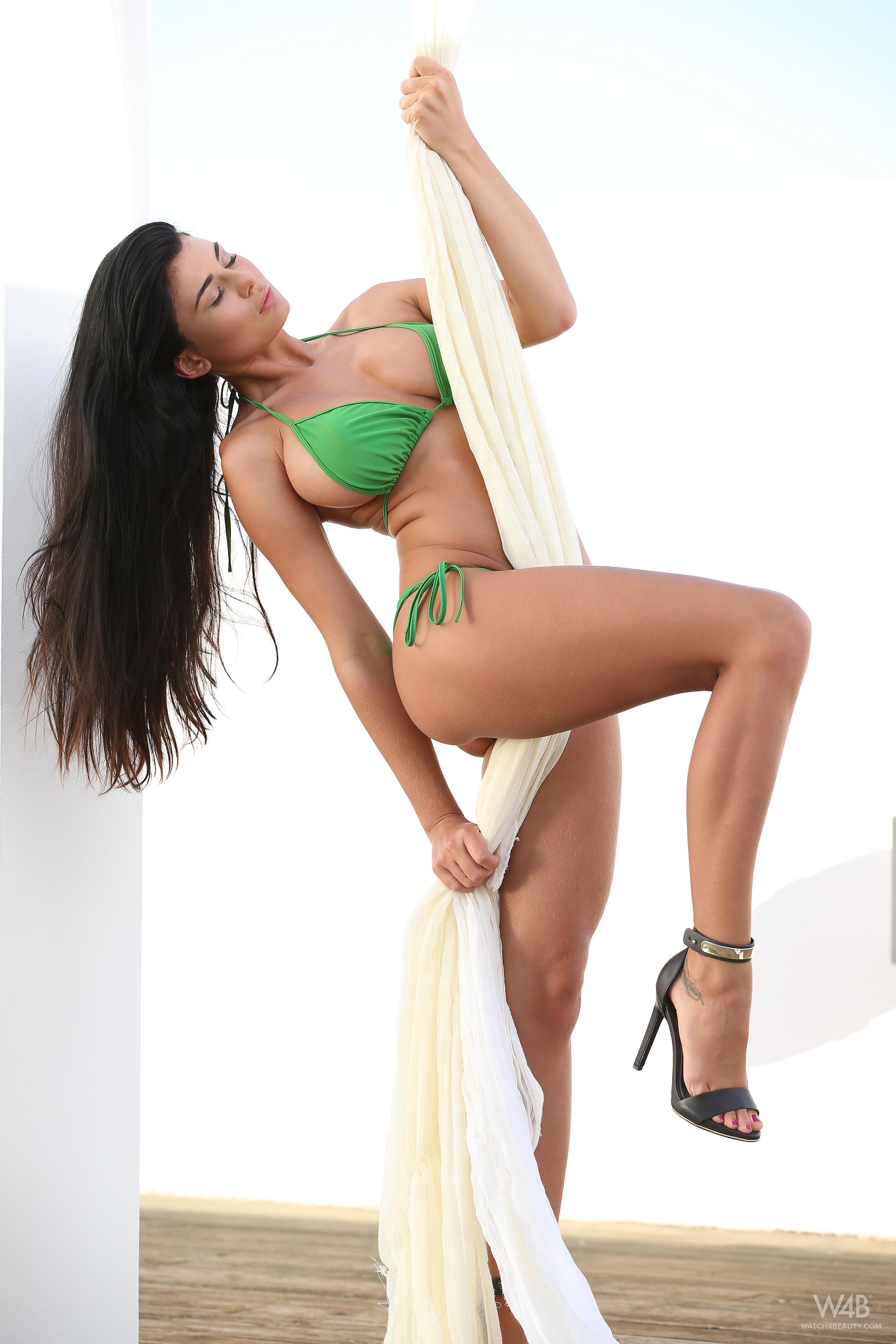 Lucy Li in a bikini