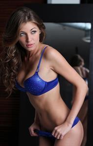 Cora Deitz in lingerie