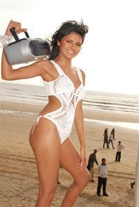 Sherlyn Chopra in a bikini