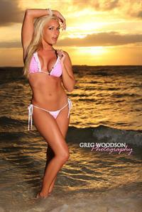 Jessica Daniels in a bikini