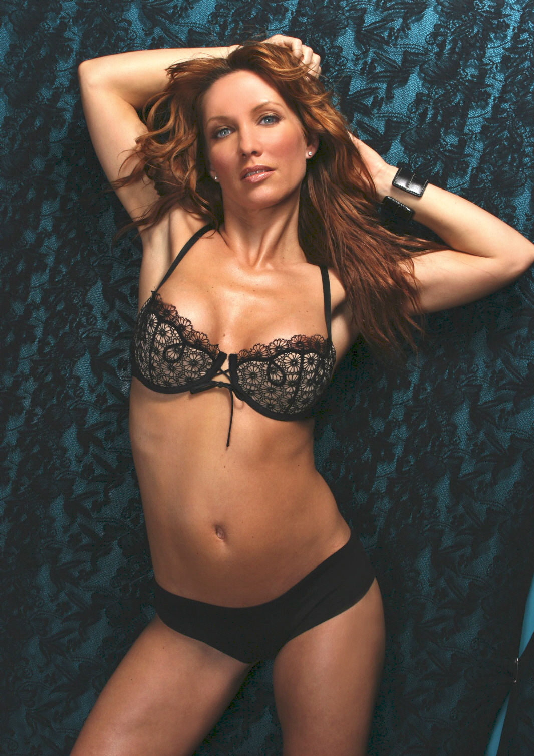 Jennifer Korbin in lingerie