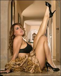 Megan Monroe in lingerie