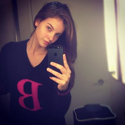 Barbara Palvin taking a selfie