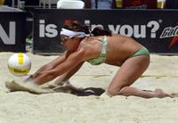 Misty Elizabeth May-Treanor is an American professional beach volleyball player best known for playing with Kerri Walsh in the Olympics in Athens 2004, Beijing 2008 and London 2012.  She also teamed up with Holly McPeak for the Sydney 2000 Olympics