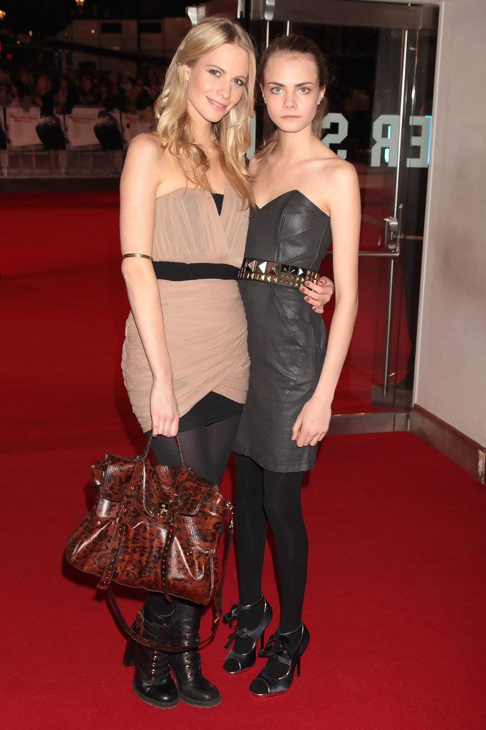Cara and Poppy Delevingne on red carpet