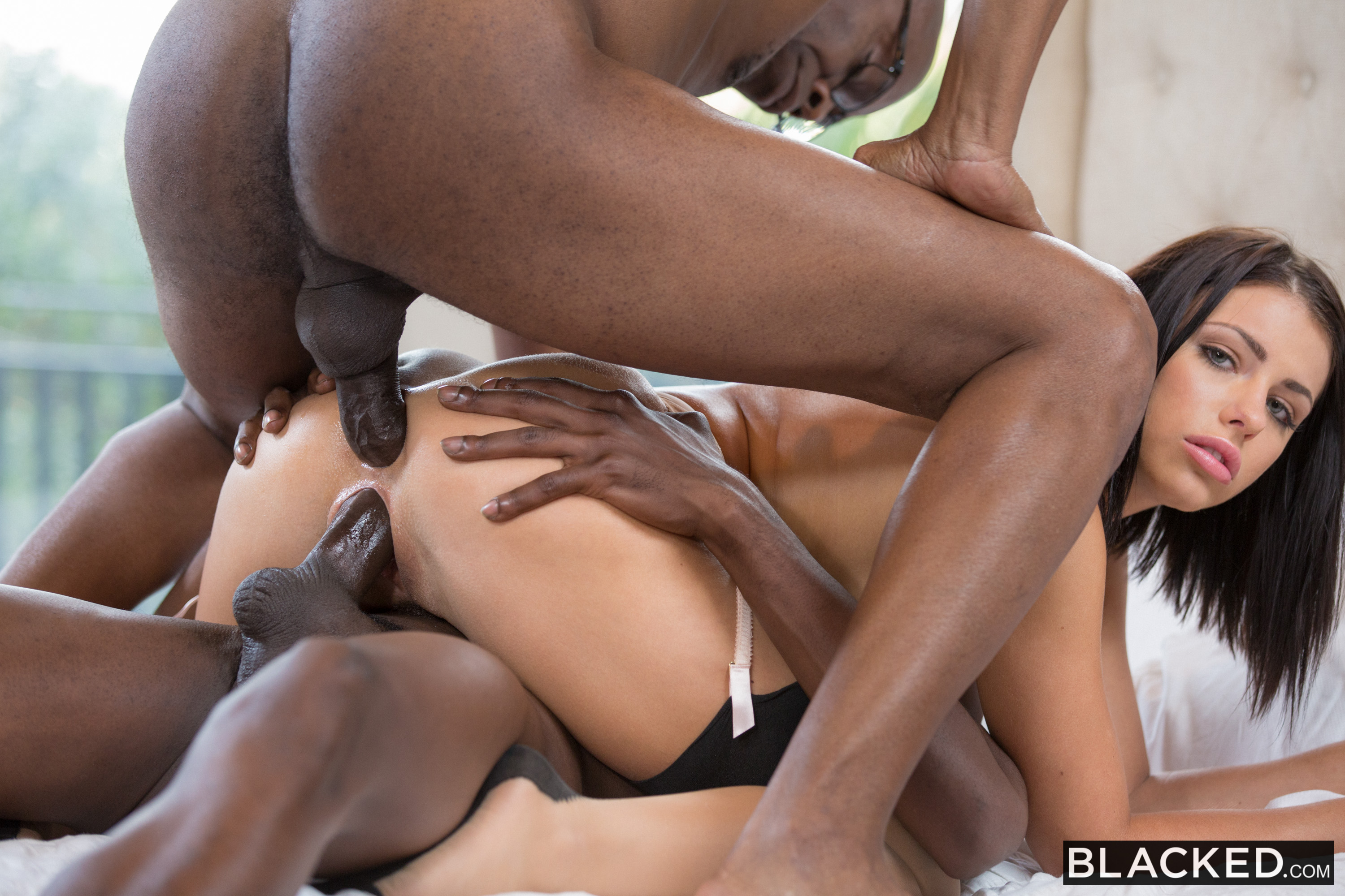 Aj applegate takes a huge black meat anally 6