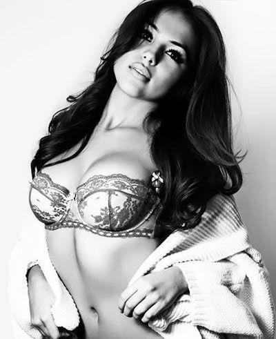 Katya Sanchez in lingerie
