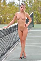 Kendall Kayden Nude on the Tennis Courts