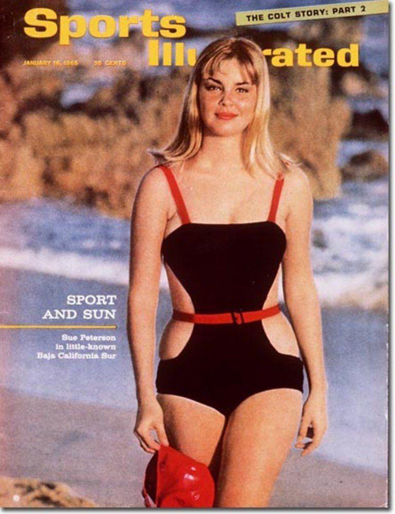 Sue Peterson in a bikini