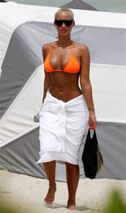 Amber Rose in a bikini